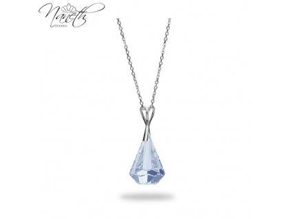 Náhrdelník Naneth s kryštálom Swarovski®Crystals Xirius Blue Shade 24 mm