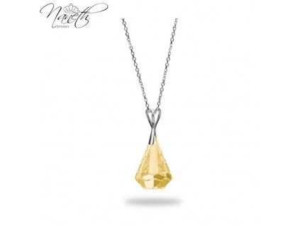 Náhrdelník Naneth s kryštálom Swarovski®Crystals Xirius Golden Shadow 24 mm