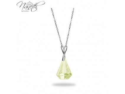 Náhrdelník Naneth s kryštálom Swarovski®Crystals Xirius Luminous Green 24 mm