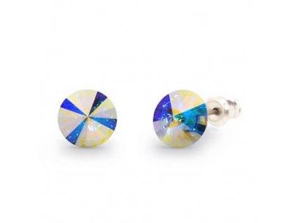 Náušnice Naneth s kryštálmi Rivoli Swarovski Crystals AB 8 mm