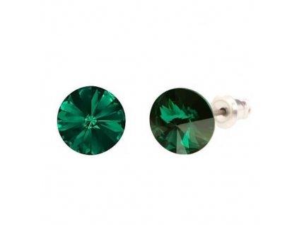 Náušnice Naneth s kryštálmi Rivoli Swarovski Crystals Emerald 8 mm