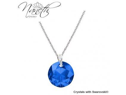 Náhrdelník Naneth Swarovski® Classic Cut modrý Sapphire
