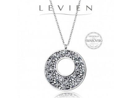 Oceľový náhrdelník VICTORY Rocks s kryštálmi Swarovski Grey Metalliseé
