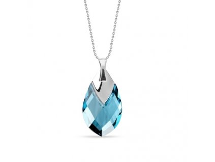 NH6565AQ18 - náhrdelník swarovski modrá slza