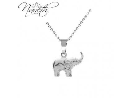 dámsky strieborný náhrdelník slon