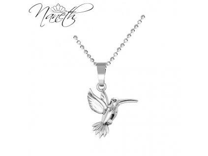strieborný dámsky náhrdelník prívesok vtáčik