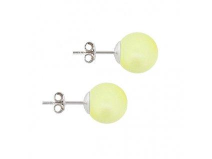 Swarovski perlové žlté náušnice puzetové NAP5818Y10