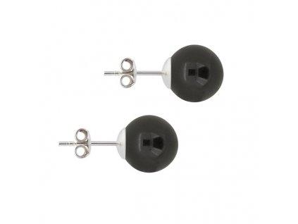 perlové náušnice Swarovski čierne puzetové NAP5818MB10