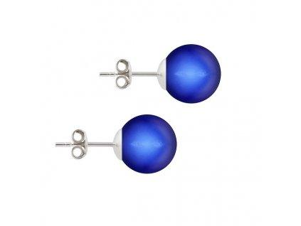 perlové náušnice Swarovski modré puzetové NAP5818IDB10
