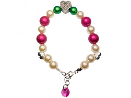 SWAROVSKI perlovy naramok biely ruzovy strieborny NR5818WP