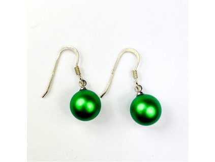 swarovski perlove nausnice zelene hacik NAH5818EG10