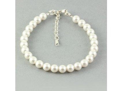 SWAROVSKI naramok perlovy biely zo striebra NR5818WSD