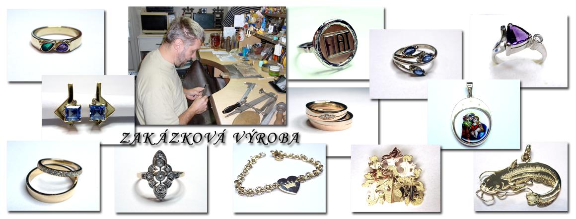 Šperky vyrobené v naší dílně
