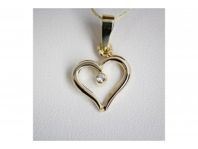 Přívěšek srdce s diamantem