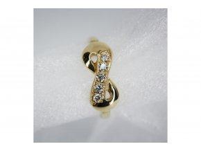Prsten Nekonečno s diamanty