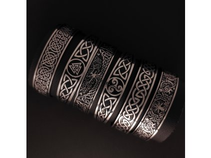 Náramky z chirurgické nerez oceli 316L s keltským vzorem - keltský propletenec, strom života, triskel, Valhala