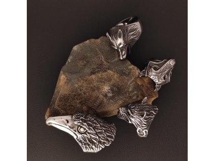 Prsteny z chirurgické nerez oceli 316L - se zvířecími motivy - vlci, orel