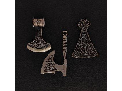 Sekery - Přívěsek z chirurgické nerez oceli 316L - Slovanské, rituální