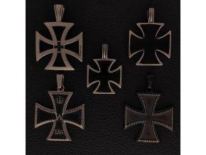 Rytířské kříže 1 - Přívěsek z chirurgické nerez oceli 316L