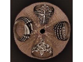 Prsteny z chirurgické nerez oceli 316L - historické, motorkářské motivy, symbol kříže