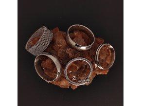 Decentní jemné prsteny z chirurgické nerez oceli 316L - řetěz, symbol Pán Prstenů