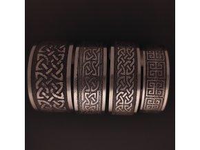 Ručně vyrobené náramky s keltským vzorem z chirurgické nerez oceli