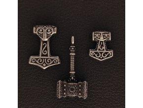 Thórova kladiva - Přívěsek (amulet) z chirurgické nerez oceli 316L 1