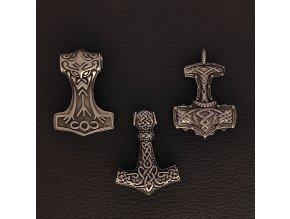 Thórova kladiva - Přívěsek (amulet) z chirurgické nerez oceli 316L 2