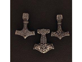 Thórova kladiva  - Přívěsek (amulet) z chirurgické nerez oceli 316L 3