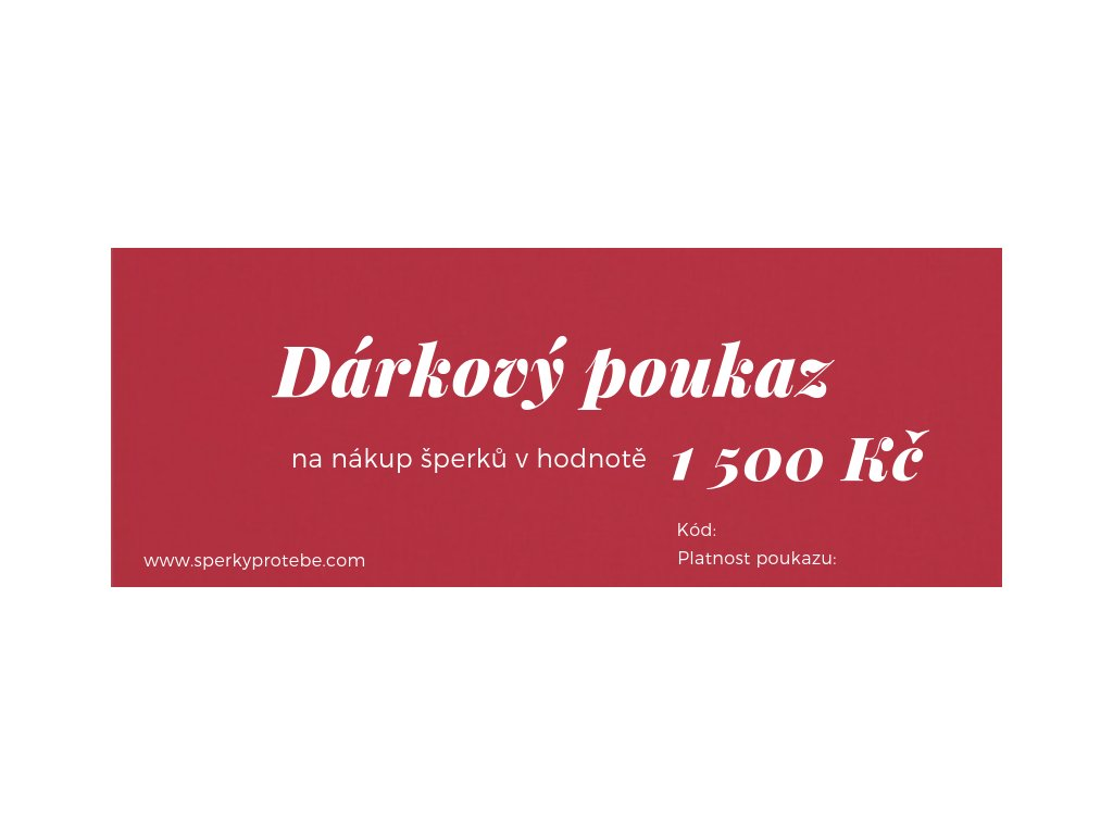 Dárkový poukaz 1500Kč