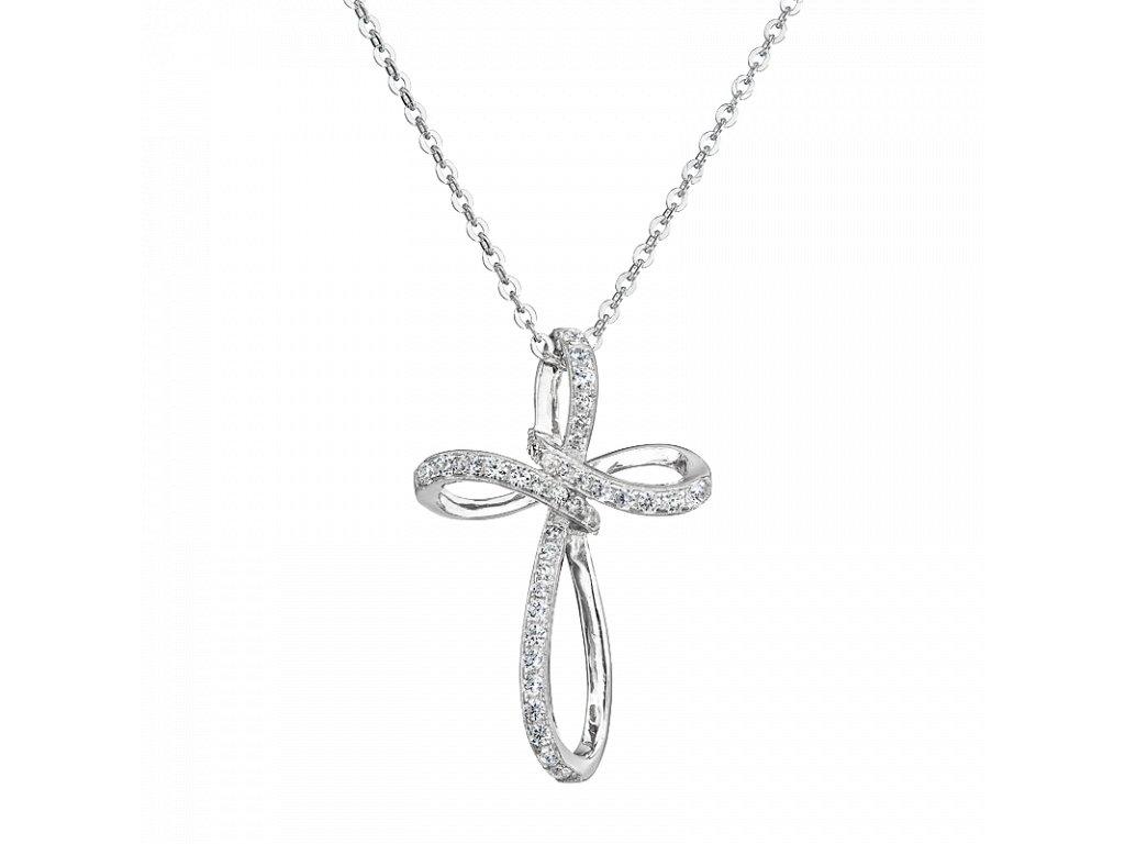 Stříbrný přívěsek Brilantní křížek