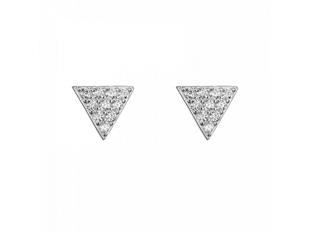 Stříbrné náušnice Trojúhelník