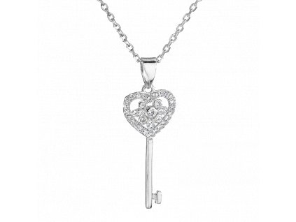 Stříbrný přívěsek s řetízkem – Klíč k lásce