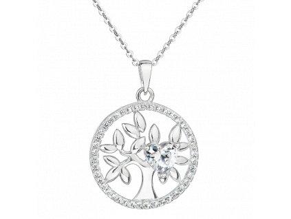Stříbrný přívěsek Strom života se srdíčkem