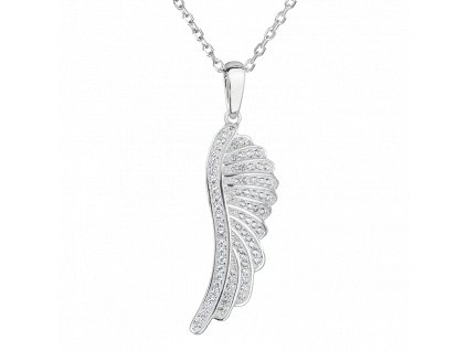 Stříbrný přívěsek s řetízkem – Andělské křídlo