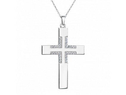 Stříbrný přívěsek s řetízkem Kříž
