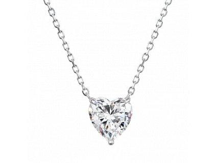 Stříbrný náhrdelník Magické srdce