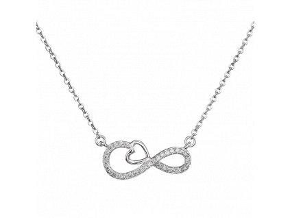 Stříbrný náhrdelník Nekonečná láska