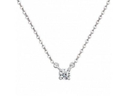 Stříbrný náhrdelník smoissanitem Moon