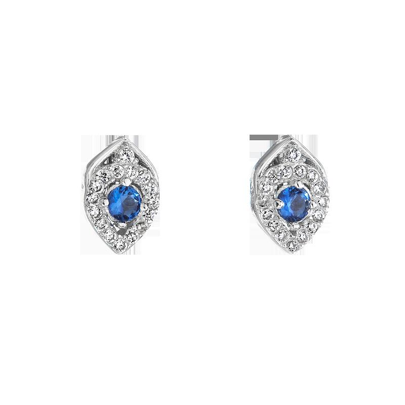 Šperky pro tebe Stříbrné náušnice se safírem