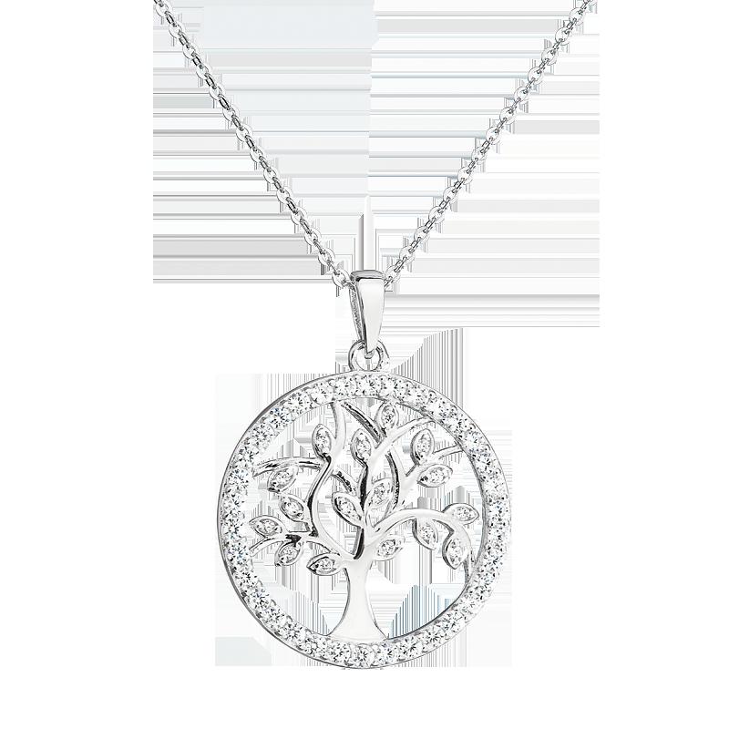 Šperky pro tebe Stříbrný přívěsek Strom života SPC0143A