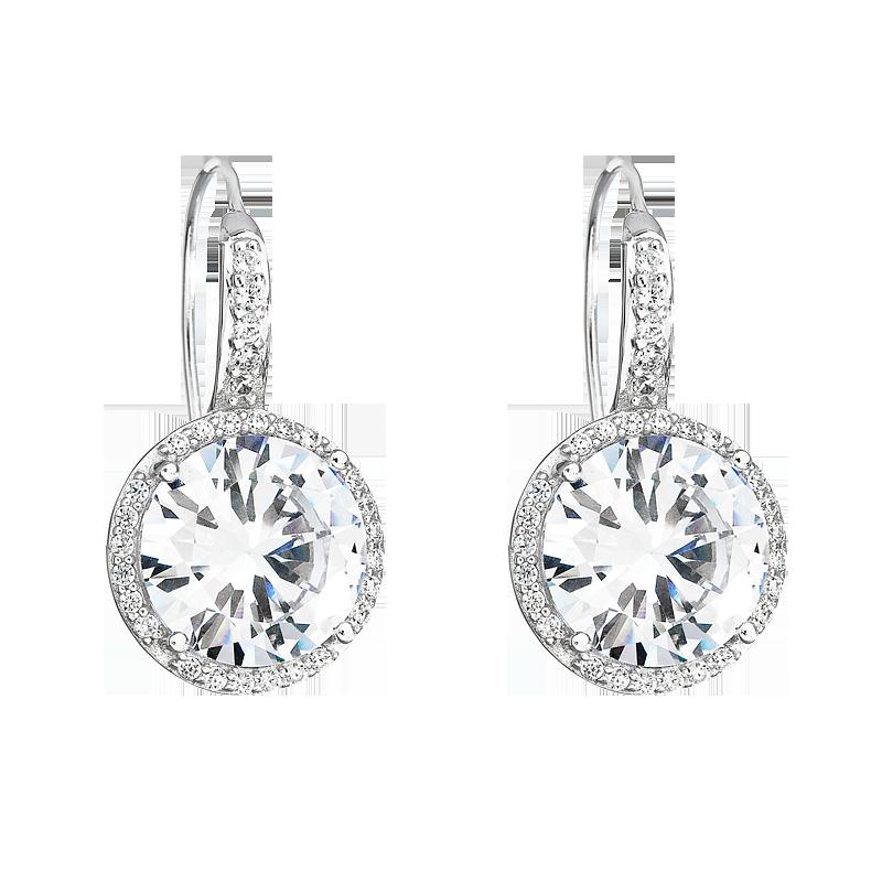 Šperky pro tebe Stříbrné náušnice Královská elegance SEF0123A