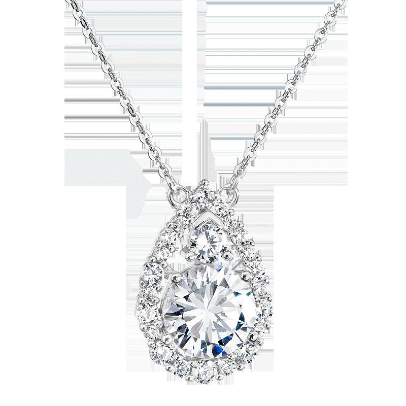 Šperky pro tebe Stříbrný náhrdelník Brilantní kapka SP04308A