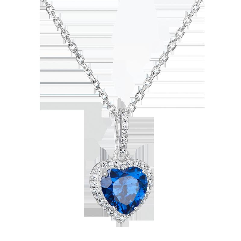 Šperky pro tebe Stříbrný přívěsek Srdce oceánu SS-B1197NA1