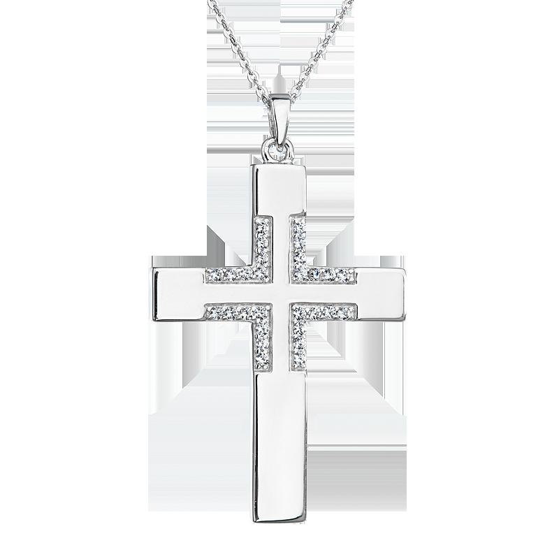 Šperky pro tebe Stříbrný přívěsek Kříž SPD0269A