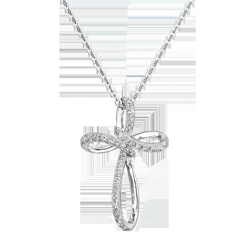 Šperky pro tebe Stříbrný přívěsek Brilantní křížek MP00853A