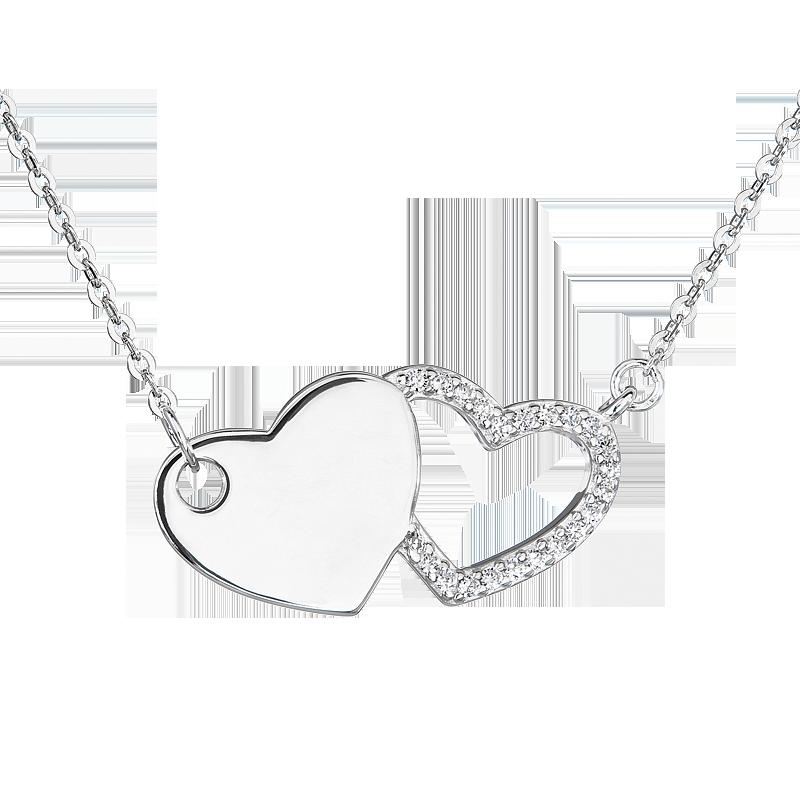 Šperky pro tebe Stříbrný náhrdelník Souznění NC01434C