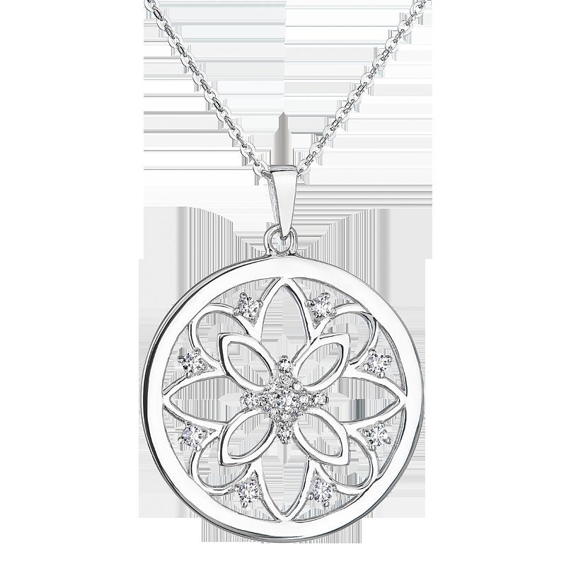 Šperky pro tebe Stříbrný přívěsek Mandala SP06090B