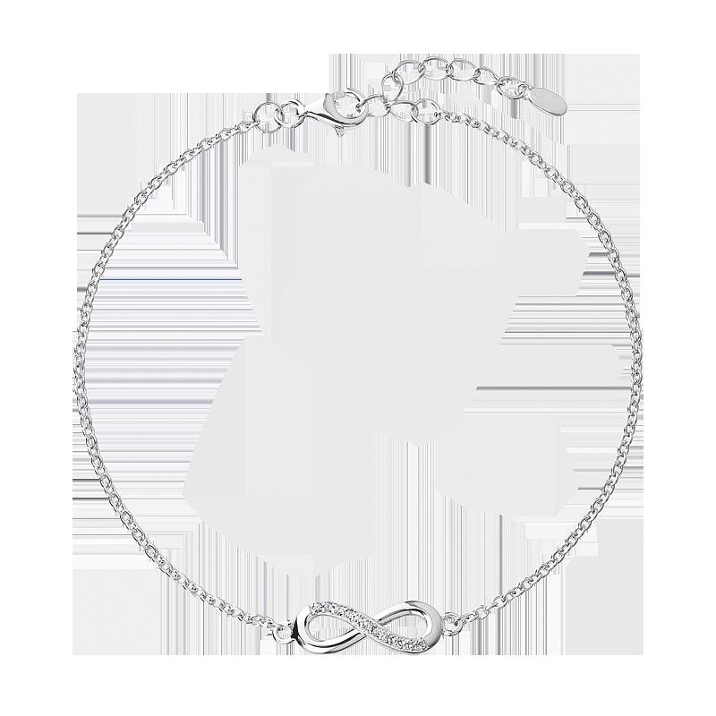 Šperky pro tebe Stříbrný dámský náramek Nekonečno BRF0003B