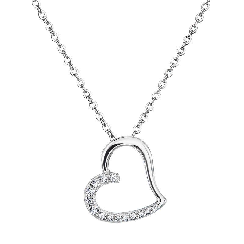 Šperky pro tebe Stříbrný přívěsek Srdíčko SP02273H
